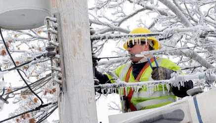 Lineman in the Snow